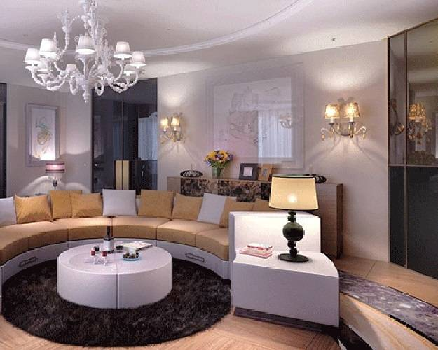 Round Out Room Decor with Modern Round Sofa 25 Furniture Placement