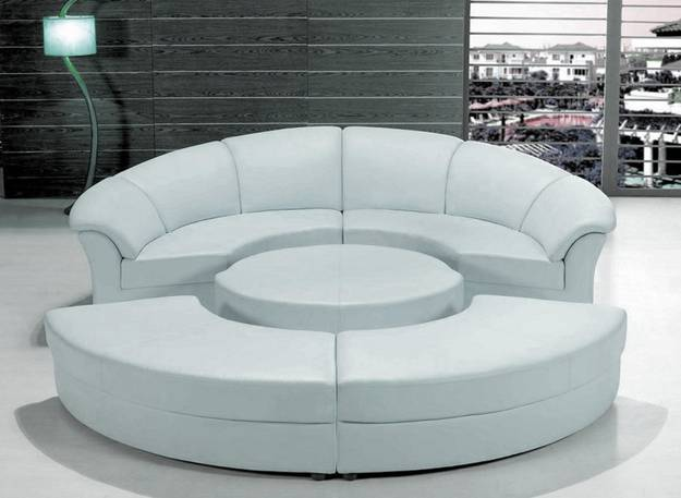 Round Out Room Decor With Modern Round Sofa 25 Furniture