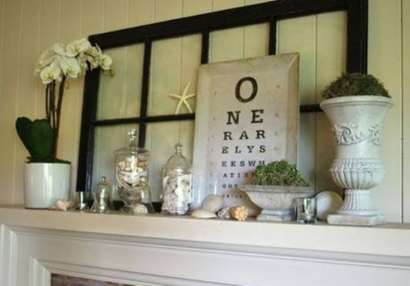 ... wood crafts, summer decorating for fireplace mantels and wall shelves