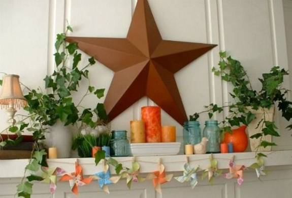 15 Creative Summer Decorating Ideas for Fireplace Mantels ~ 141146_Fireplace Mantel Decorating Ideas For Summer