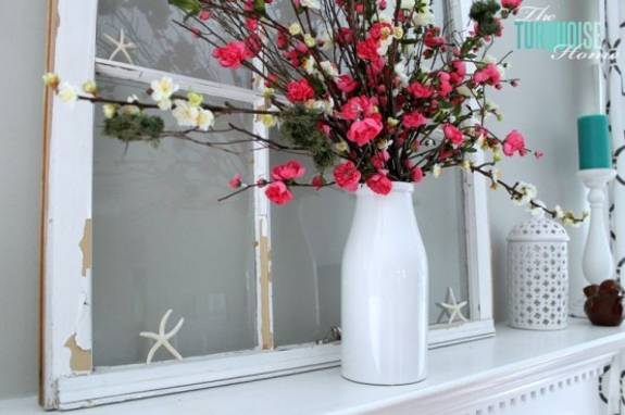 Decorating Ideas > Summer Decorating With Flowers And Plants, 25 Beautiful  ~ 131258_Fireplace Decorating Ideas Summer
