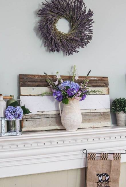 Summer Decorating with Flowers and Plants, 25 Beautiful  ~ 141146_Fireplace Mantel Decorating Ideas For Summer