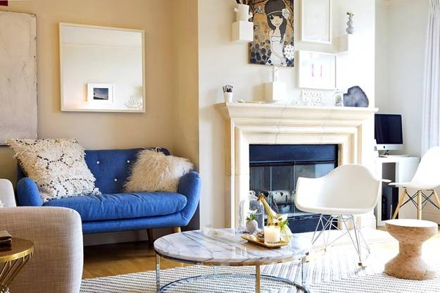 Decorating with Yellow Blue and White