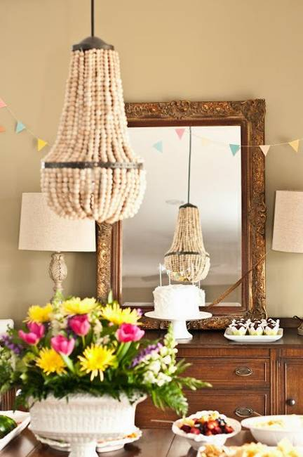 Ideas for interior decorating with wooden beads and