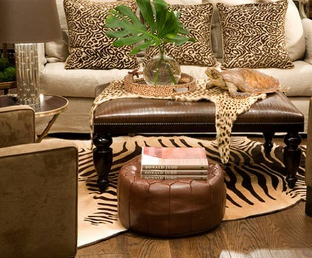 African Decorating With Leopard And Zebra Patterns Contrasting Room Colors
