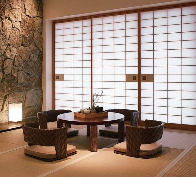 asian decor and modern interior decorating in japanese style