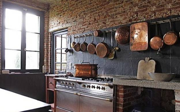 Modern Kitchen Decor Brick Walls Interior Decorating Ideas