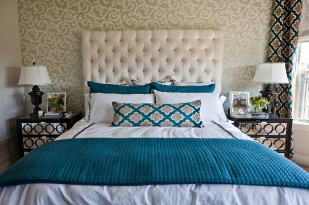 modern beds and home fabrics for bedroom decor