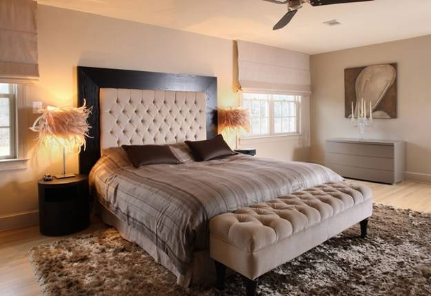 25 upholstered bed headboards revitalizing modern bedroom for Bedroom ideas with no headboard