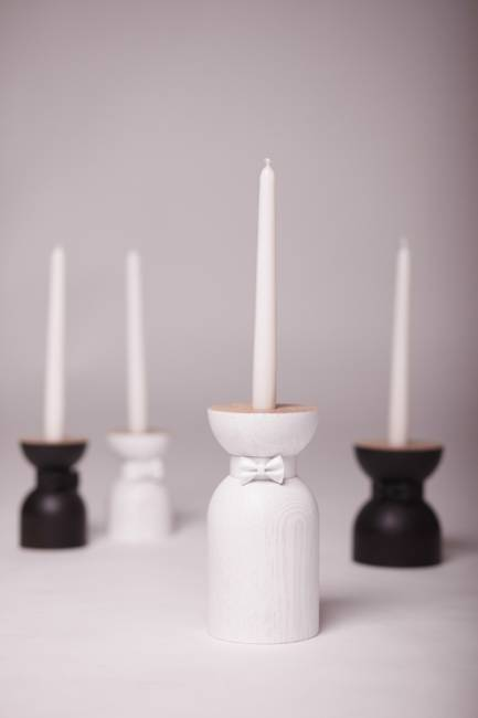 Carved Wood Candle Holders And Table Lamps For Elegant Interior Decorating