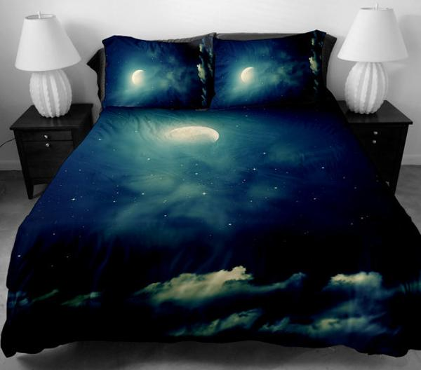 Great Cosmos bedding set in black color modern bedroom decor theme