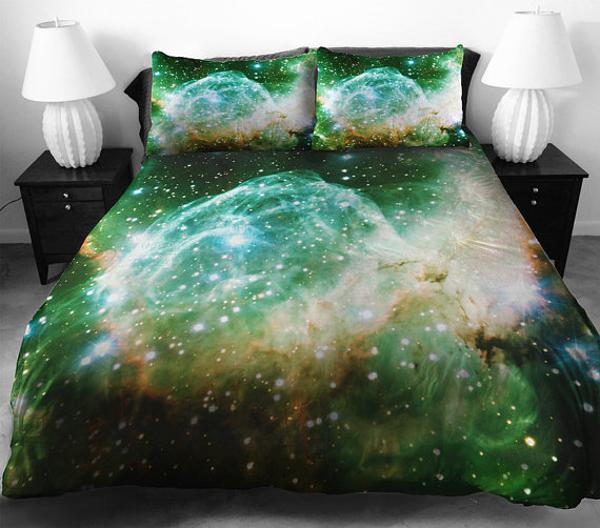 Elegant Cosmos bedding set in black color modern bedroom decor theme