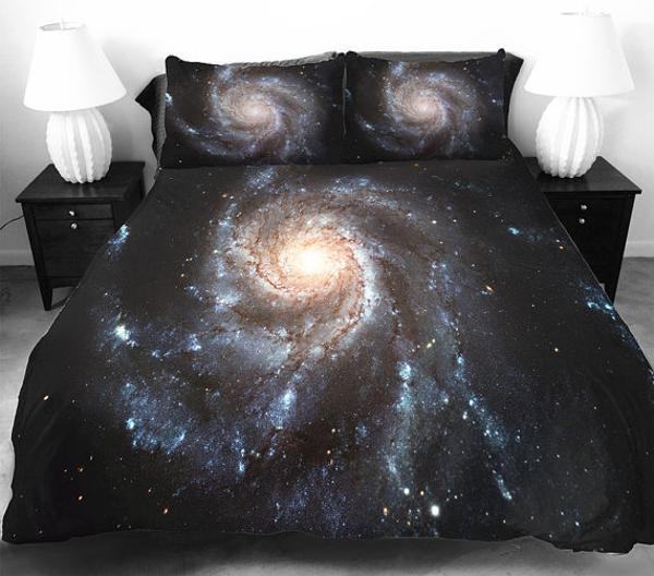 Marvelous Cosmos bedding set in black color modern bedroom decor theme