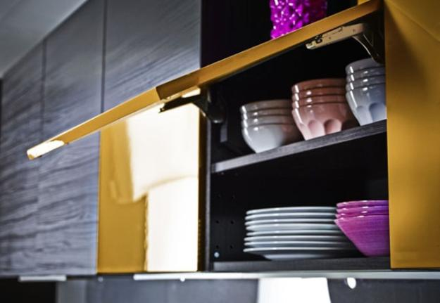 Ikea Hochstuhl Leopard Test ~ Black and yellow kitchen cabinets, purple color accents for modern