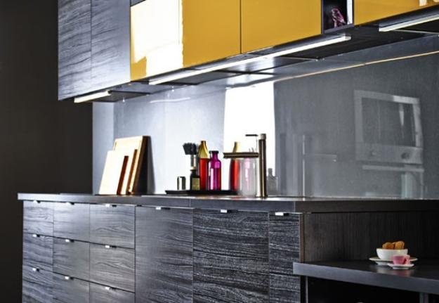 Black And Yellow Color Schemes For Modern Kitchen Decor - Black and grey kitchen decor