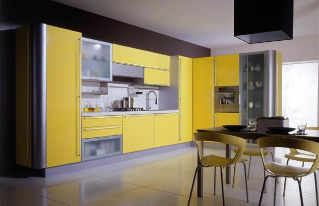 Http Www Decor4all Com Black Yellow Color Schemed Modern Kitchen Decor 30714