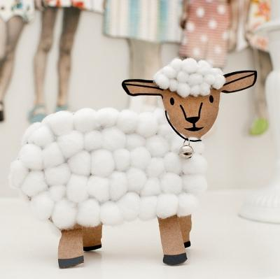 sheep inspired modern decor ideas, wood furniture and handmade decorative accessories