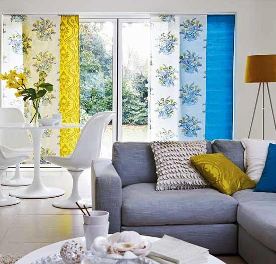 yellow and blue room colors for living room decor