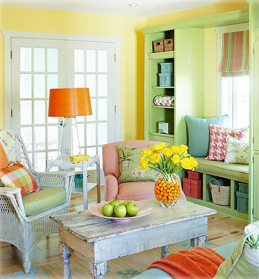 20 Ways To Decorate With Orange And Yellow: 20 Hot Spring Decor Ideas Blending Natural Textures And