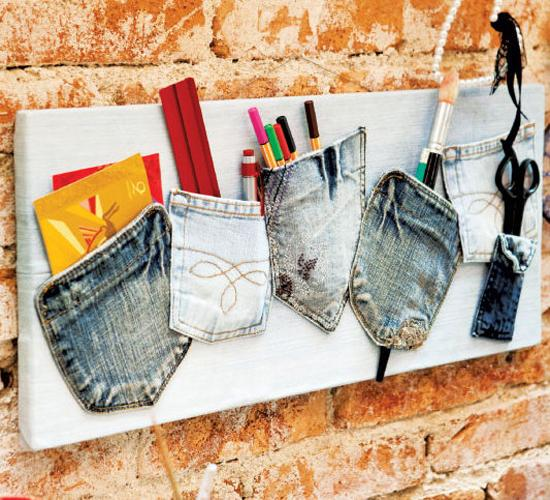 20 Recycling Ideas For Home Decor: Denim Interior Trends, Ways To Recycle For Crafts And Decor