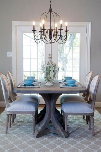 dining room decor in vintage style
