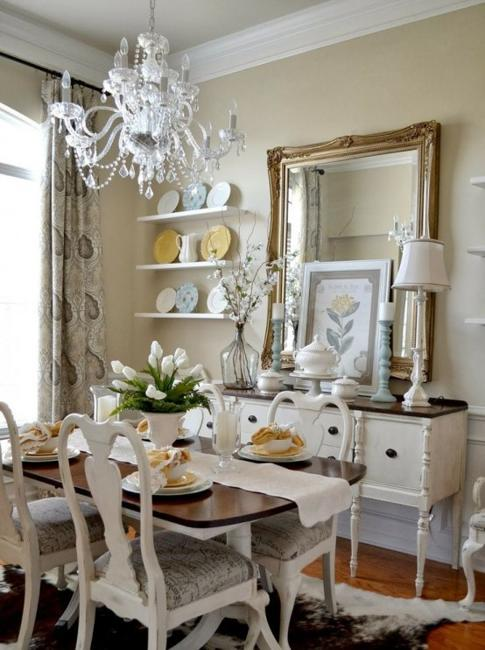 25 Ideas for Classic Dining Room Decorating with Vintage ... on Photo Room Decor  id=35565