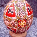 traditional easter decorations, hand painted eggs