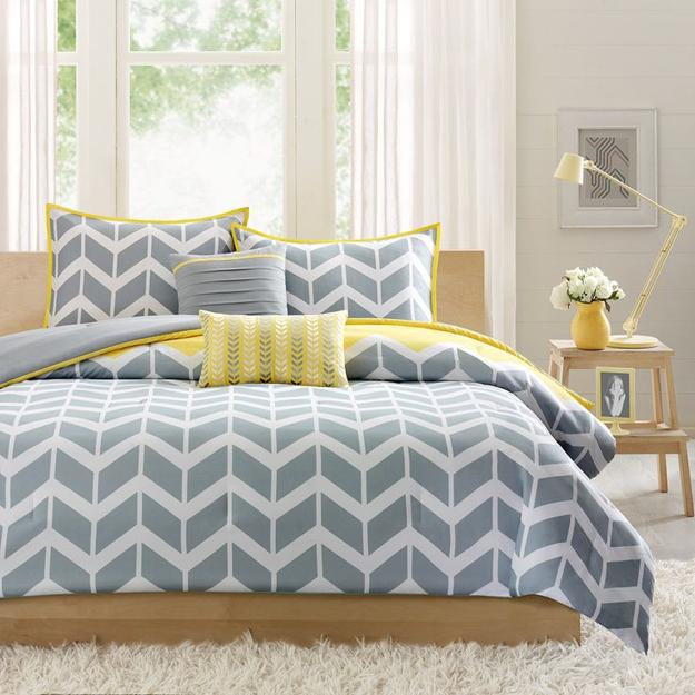 creating modern bedroom decor with geometric bedding sets