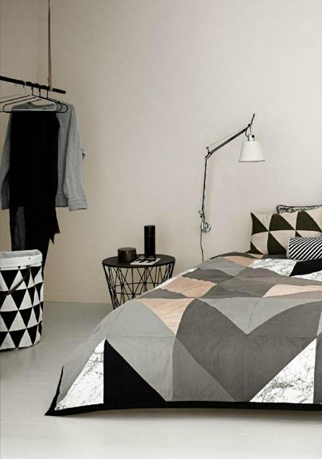 creating modern bedroom decor  geometric bedding sets
