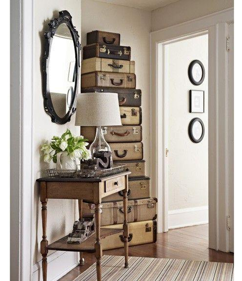 Modern Vintage Home Decor Ideas: 3 Ways Old Suitcases Make Interior Decorating Beautiful