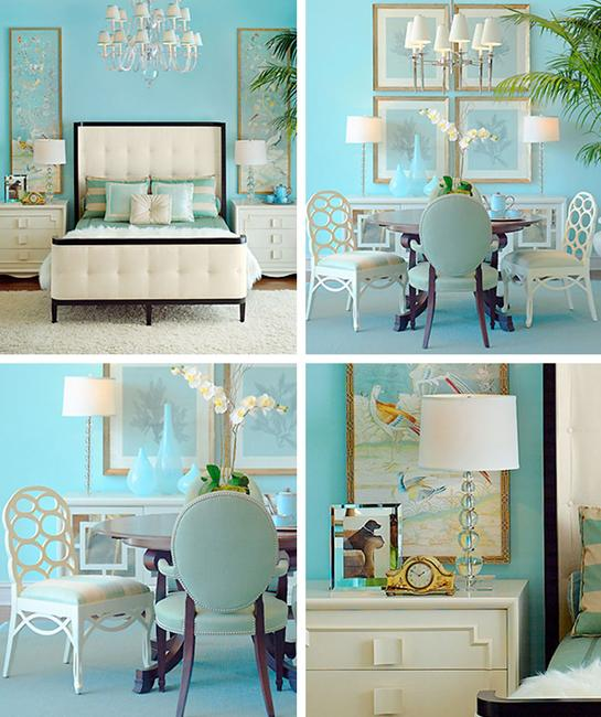 Light Turquoise Wall Paint And White Decorating Ideas