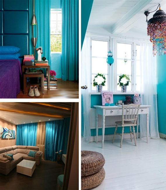 Light Turquoise Blue Pink Brown And Green Colors Rich Color Combinations For Modern Room Decorating