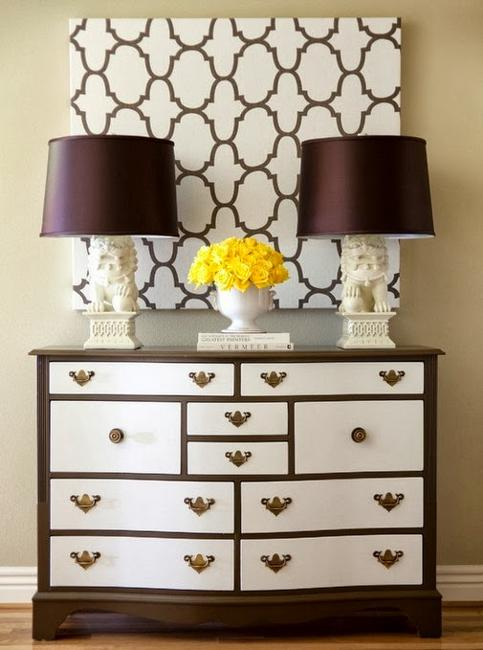 Inspiring furniture decoration ideas for beautiful chests - Decorating a chest of drawers ...