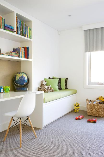 Green Color And White Decorating Ideas For Kids Rooms