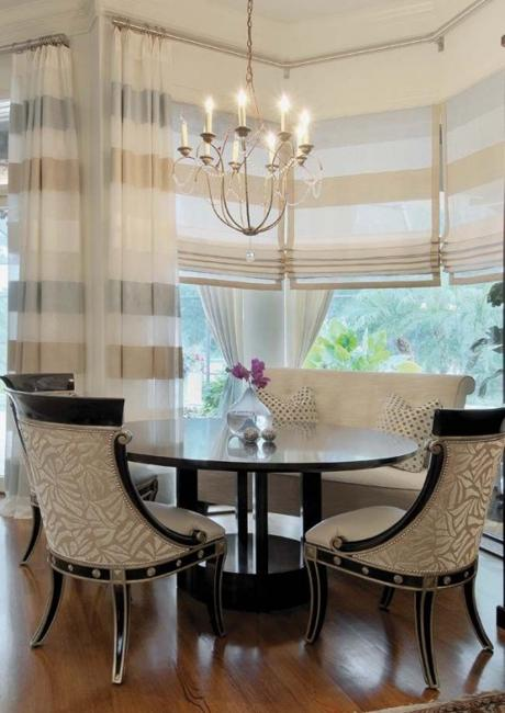 Living Room Beautiful Decor: 25 Modern Roman Shades For Beautiful Room Decorating