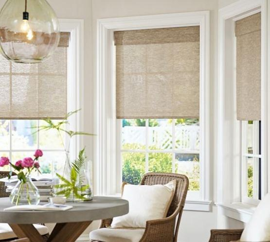 Dining Room Window Treatment: 25 Modern Roman Shades For Beautiful Room Decorating