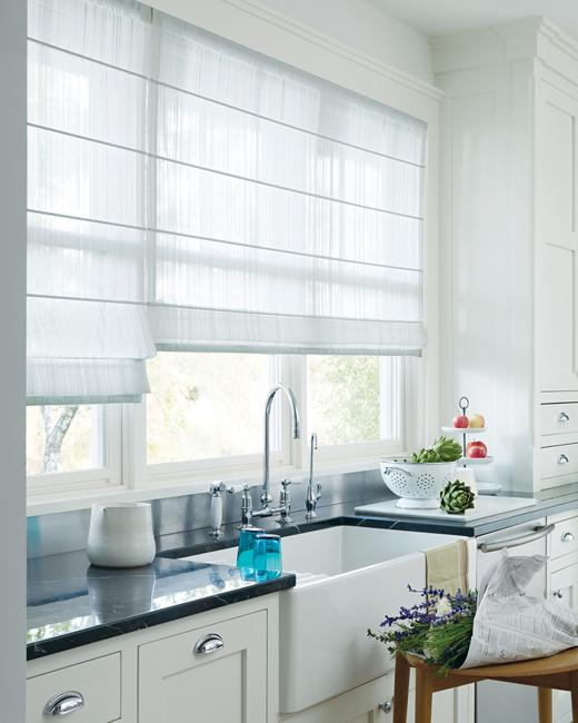 20 beautiful window treatment ideas for kitchen and for Contemporary kitchen window treatment ideas