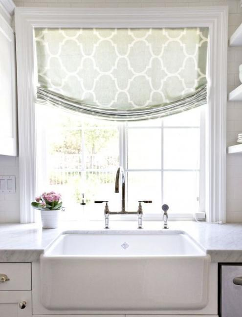 20 beautiful window treatment ideas for kitchen and - Modern window treatment ideas ...