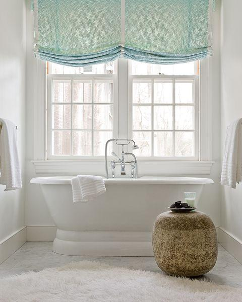 Roman Shades For Modern Bathroom Decorating