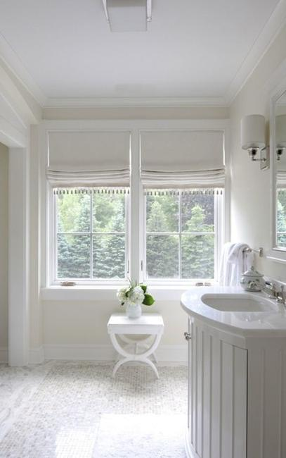 Treatment ideas for kitchen and bathroom decorating roman shades