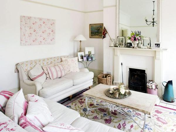 Pastel colors and creativity turning rooms into modern shabby chic