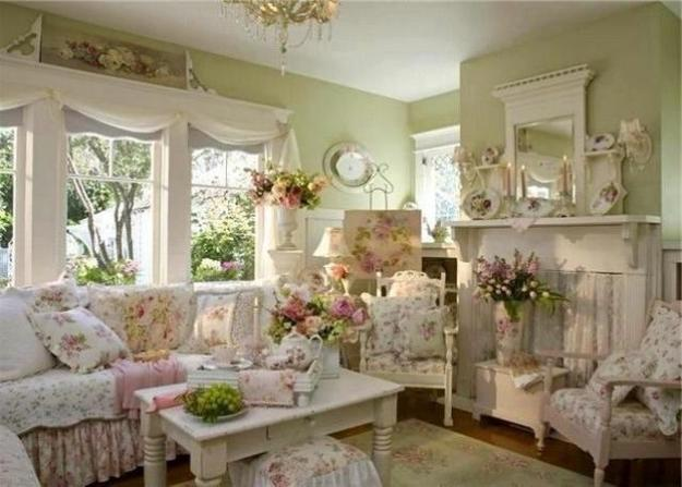 sofa pillows in white and pale pink colors shabby chic living room decorating
