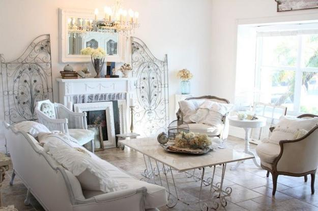 shabby chic interiors, living room designs