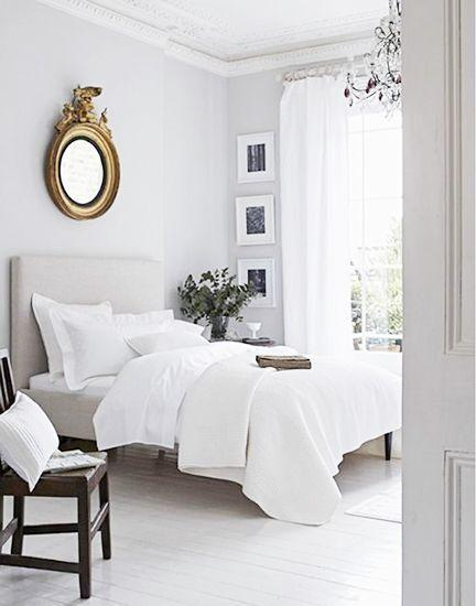 Huge Mirrors And White Decorating Suggestions Airy Bedroom Style
