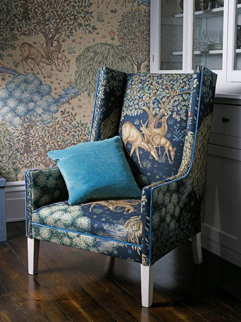home decorating with fabrics and beautiful wallpapers