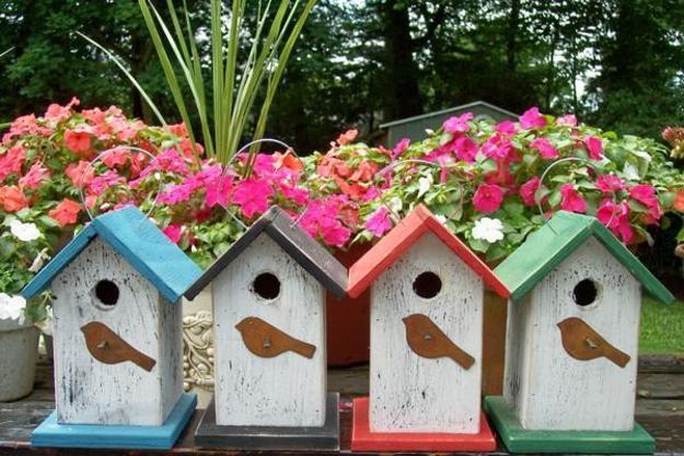 Handmade Decorative Birdhouses Adding Personality To