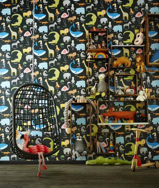Fashion Forest Beauty Salon: Modern Wallpaper Patterns Inspiring Children Bedroom