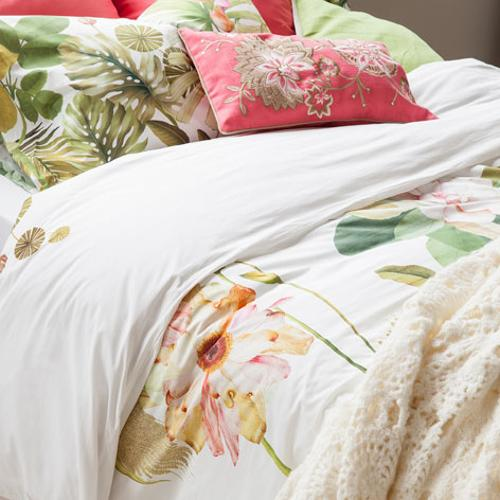 latest trends in decorating with bedding fabrics