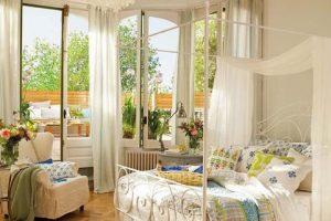 window curtains and modern bedroom decor ideas