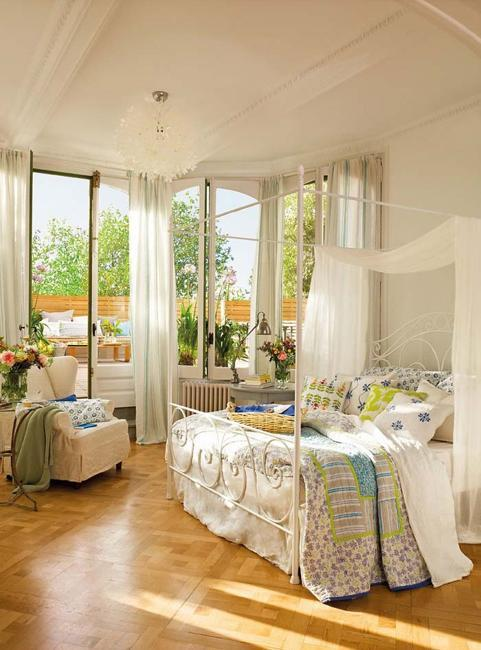 window curtains and modern bedroom decor ideas